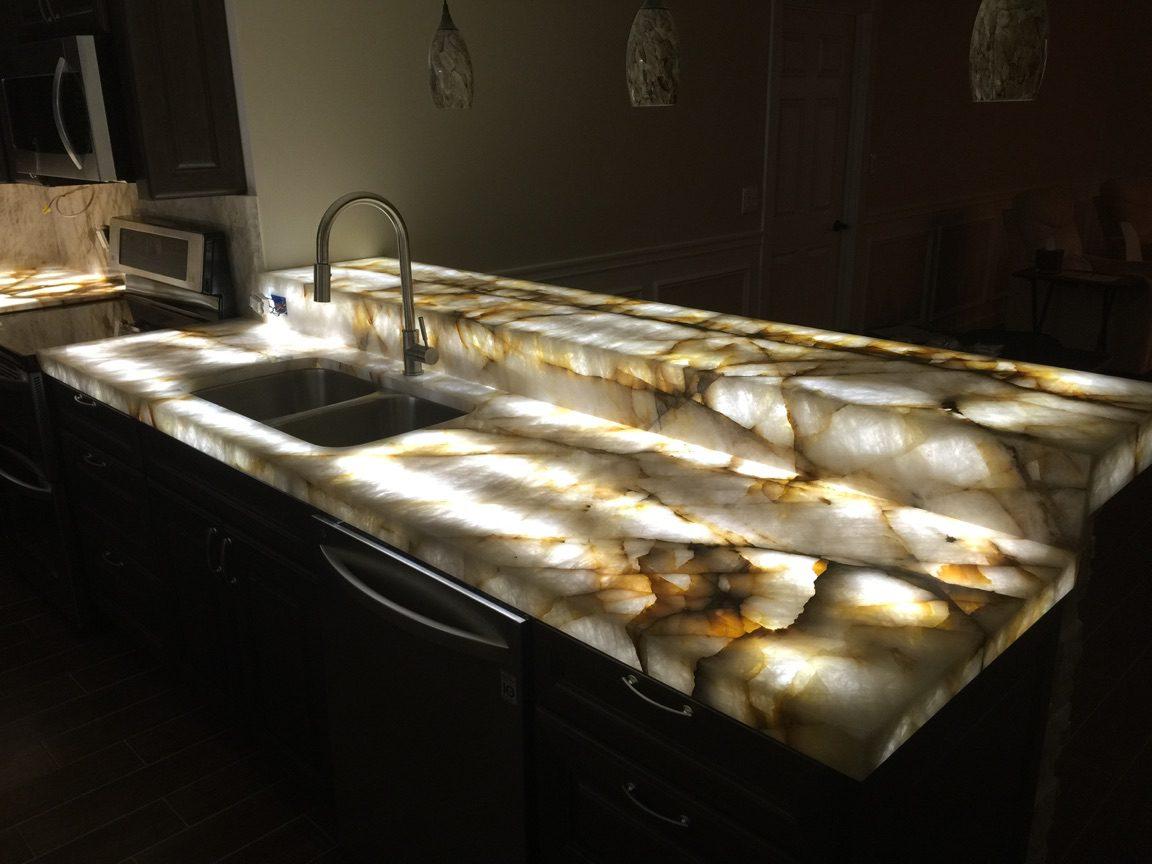 Titanium Leather Island Spazio Marble Amp Granite