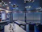 agate blue backlit interior yacht